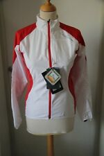 Original veste coupe vent femme SALOMON Fast 2 Clima Wind blanc rouge S  neuf