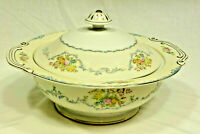 Vintage STS Covered Serving Dish - Floral Hand Painted - Japan - EUC
