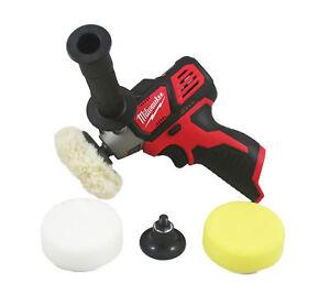 "Milwaukee 2438-20 M12 3"" Variable Speed Polisher Sander Bare Tool W/ Accessories"