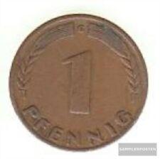 BRD Jägernr: 376 1949 F sehr schön Eisen, Kupfer 1949 1 Pfennig Eichenzweig Bank