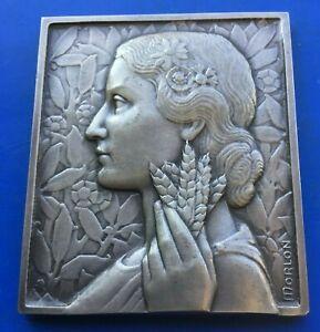 par MORLON belle médaille art-déco  ARGENT 65 mm 160,8 gr SUPERBE RARE