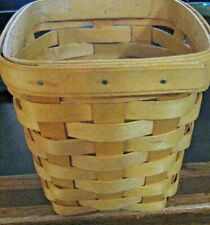 1997 Longaberger Upright Basket 6 Inches High - Excellent Condition
