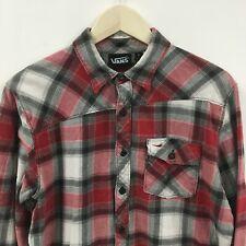 Mens Small VANS Flannel Shirt Logo Skateboard Plaid 8c