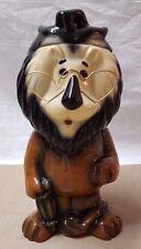 "2004 Lefton Hand Painted Ltd Edition Harris Bank Cookie Jar Hubert The Lion 15"""