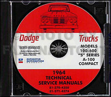 1964 1965 Dodge Van Repair Shop Manual CD A100 Sportsman A 100 Compact A40-A60