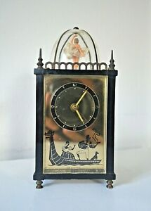 1950'S THORENS MUSICAL ALARM CLOCK WITH SPINNING BALLERINA