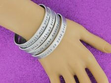 4 Stackable Inspirational Bracelets Set - 4 Agreements Quote