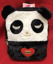 Luv Betsey Johnson Panda Bear Backpack Faux Fur Weekender Travel Bag