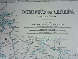 1910 MAP ~ DOMINION OF CANADA WESTERN SHEET ~ BRITISH COLUMBIA ALBERTA
