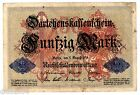 Allemagne GERMANY REICHSBANKNOTE BILLET 50 MARK 1914 P14 WEIMAR WWI BON ETAT