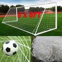 Full Size Football Net 8 x 6FT PE Polyethylene Soccer Goal Post Training Match
