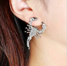 Full Crystal Scorpion Earring Jewelry Fashion Style Animal Stud Earrings Women