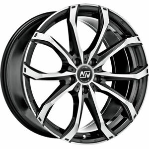 ALLOY WHEEL MSW 48 AUDI A6 Staggered 8.5x20 5x112 ET 45 GLOSS BLACK FULL POL 63b