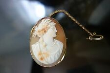 Vintage Cameo set in solid 9ct Yellow Gold....