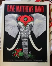 Dave Matthews Band Poster 2015 Tuscaloosa AL Roll Tide METHANE STUDIOS AP MINT
