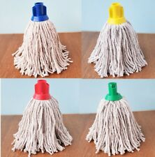 Cotton Mop Head Replacement Traditional Heavy Duty Plastic Socket Wet Floor