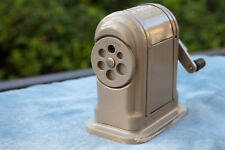 Vintage Boston Ranger 55 Metal Manual Crank Pencil Sharpener Nice cosmetic cond.