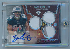 2013 Topps Triple Threads 1/1 Zach Ertz Auto Rc Triple Relics Silver #112 1 of 1