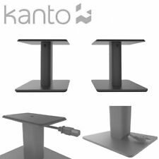 Kanto Audio Premium SP6HD Desktop Speaker Stands Pair Matt Black Adjustable Top
