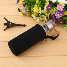 High Temperature Resistant Transparent Glass Hot Water Bottle w/ Black Covers