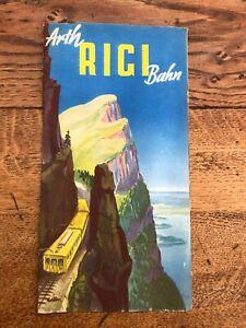 1930s swiss travel booklet . arth rigi bahn ( swiss electric rail )