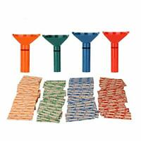 Coin Counters & Coin Sorters Tubes Bundle of 4 Color-Coded Coin Tubes and 100