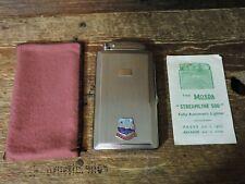 New listing old Vintage Chrome Metal Dominica Mosda Streamline 500 Cigerette Lighter Case