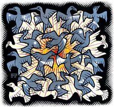 M.C. Escher Sun and moon canvas print giclee 8X8&12X12 reproduction art poster