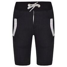 Infantil Niñas Pantalones Cortos Polar Negro Gris Shorts Chinos