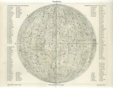 1895 PLANET MOON ASTRONOMY CELESTIAL Antique Map