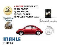 FOR VOLKSWAGEN VW BEETLE 1.2 TSI 2010-> OIL AIR FUEL POLLEN FILTER SERVICE KIT