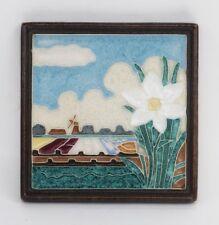 Porceleyne Fles Delft TILE Cloisonne single Flower in Field Narcissus / Daffodil