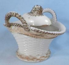 Chick On Basket Covered Dish Milk Glass Westmoreland Hatching Gold Paint #3
