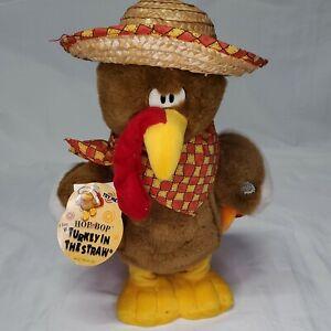 """Dan Dee Animated Singing Dancing Pilgrim Turkey Plush Toy Thanksgiving  14"""" Tag"""