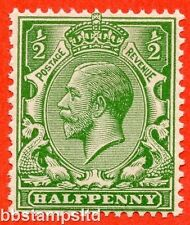 "SG. 418 c. ½d green. "" NO WATERMARK "". A superb UNMOUNTED MINT example."