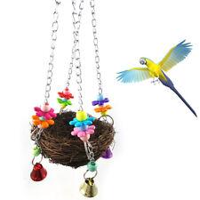 LC_ animal de compagnie Perroquet jouet cage oiseau montée à mâcher Balance Cage