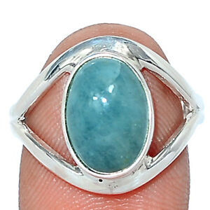 Aquamarine - Brazil - Stone Of Courage 925 Silver Ring Jewelry s.7.5 BR105866