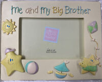 "Sweet Beginnings Handpainted Photo Frame ""Me And My Big Brother"" Holds 4""x6"""