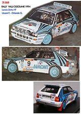 DECALS 1/43 LANCIA DELTA HF UZZENI RALLY VALLI OSSOLANE 1994