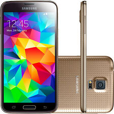 "Gold! 5.1"" Samsung Galaxy S5 G900T 4G LTE Unlocked Mobile Phone 16GB 16MP"