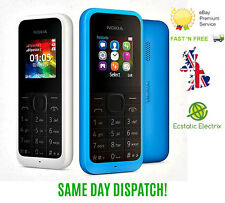 New Nokia 105 - BLACK (Unlocked) Mobile Phone Cheap Basic Sim Free DUAL SIM