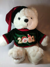 2002 Kmart Dan Dee Christmas Boy Teddy Bear Plush 17""