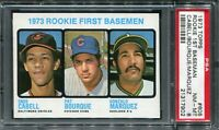 1973 Topps #605 Rookie 1st Base Cabell/Bourque/Marquez PSA 8 NM-MT