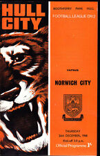 1968/69 Hull City V Norwich City 26-12-1968 Divisione 2