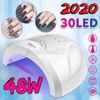 48W 30 LED USB UV Nail Lamp Solar Light Gel Polish Dryer Manicure Art Curing 💗