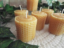 6 - PACK OF HIGHLY SCENTED HONEYCOMB LOOK VOTIVE CANDLES - YOUR CHOICE FRAGRANCE