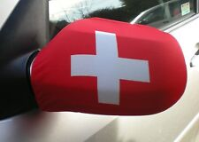 CAR WING MIRROR SOCKS FLAGS, COVERS, FLAG-UPS! - SWITZERLAND SWISS
