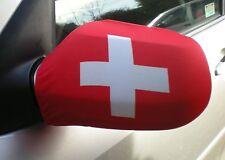 Voiture Rétroviseur Chaussettes drapeaux, coques, Haut les drapeaux! Suisse