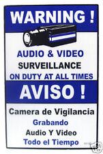 "18"" Blue CCTV Video Surveillance Sign, 10pcs / WS18B"