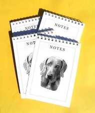 Weimaraner Pack of 4, A6 Dog Note Pads Gift Set
